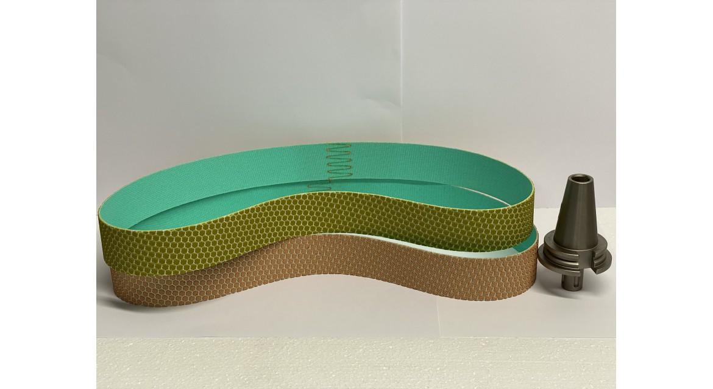 Diamond resin bands for HVOF aplications